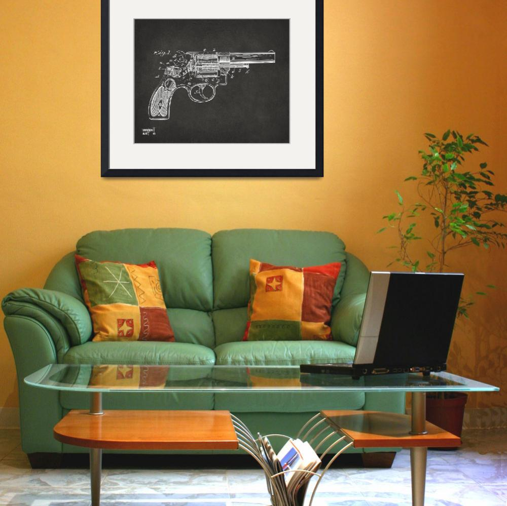 """""""Wesson 1896 Revolver Patent Minimal Gray&quot  (2014) by nikkismith"""