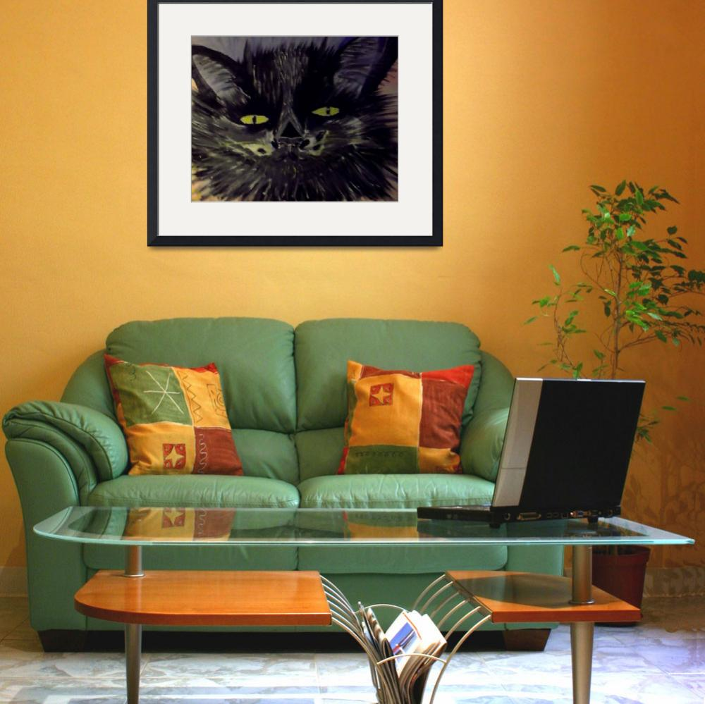 """BLACKEE ART CAT HEAD&quot  (2013) by ArtByLes"