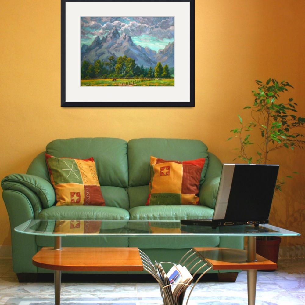 """""""Impressionist Plein Air Landscape Teton Afternoon&quot  (2011) by kevinmccain"""