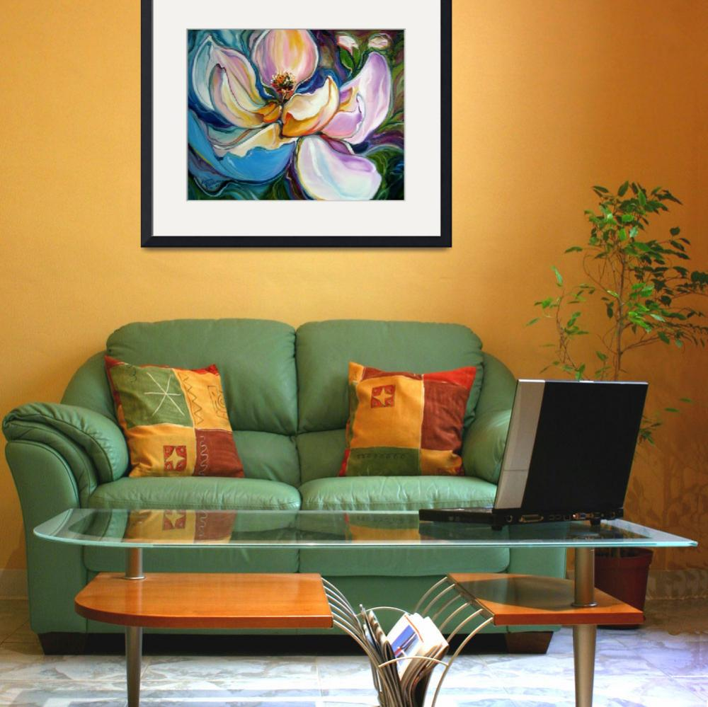 """""""SWEET MAGANOLIA MODERN FLORAL ABSTRACT&quot  (2009) by MBaldwinFineArt2006"""
