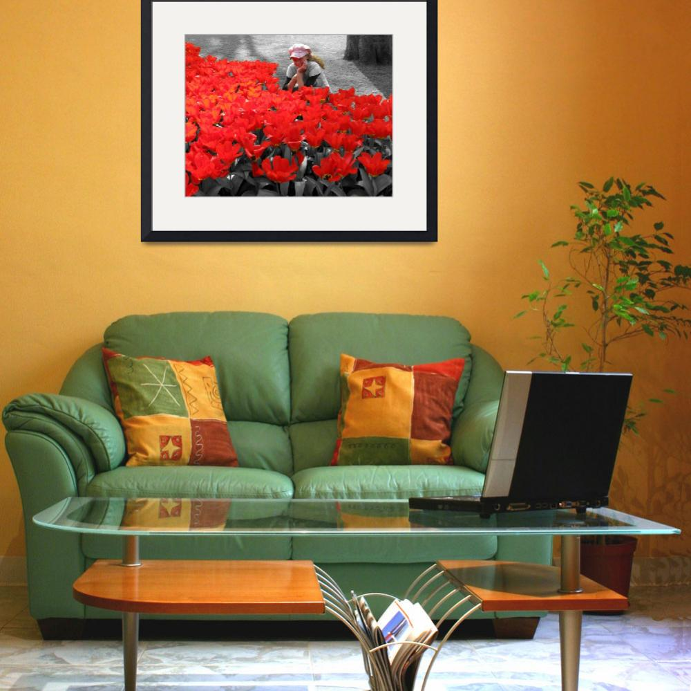 """""""My Little Red Flower&quot  (2009) by vision"""