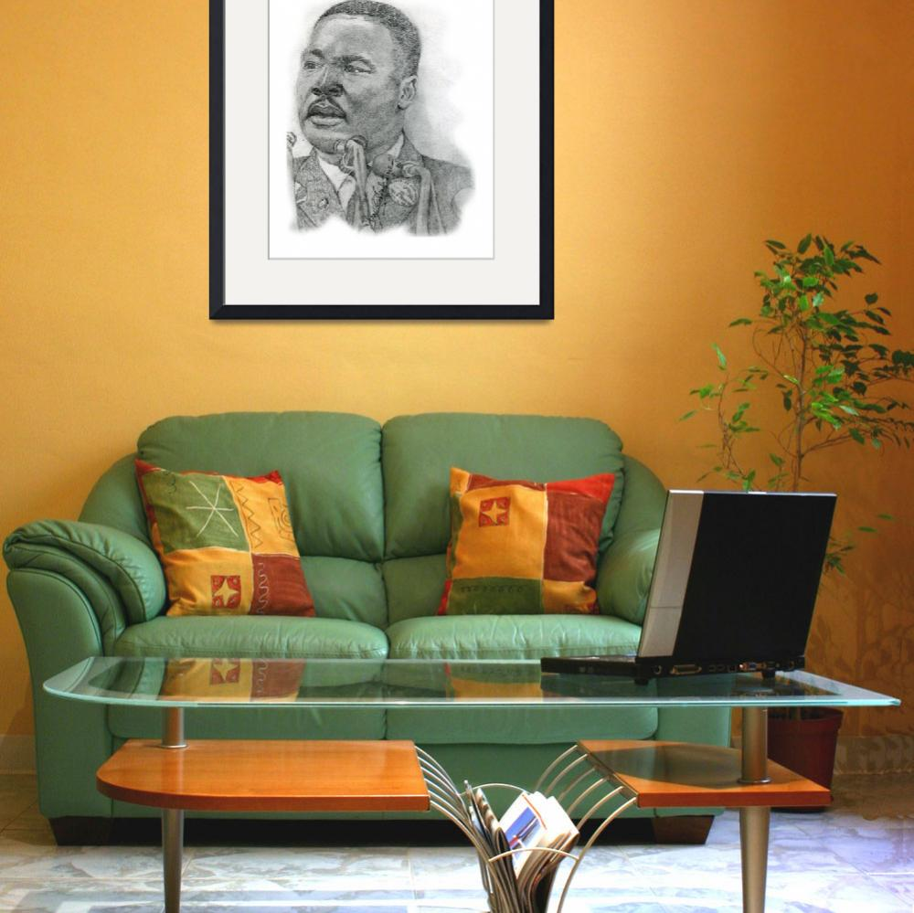 """Hand Drawn Portrait of Martin Luther King Jr.&quot  by CreativeArtisticNuance"