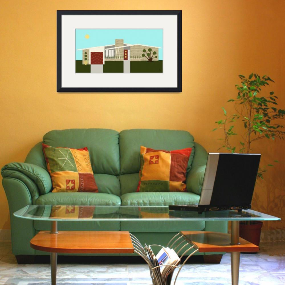 """""""Mid Century Modern House 3&quot  (2014) by DMibus"""