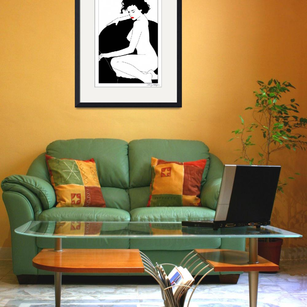 """NUDE IN LOUNGE CHAIR""  (2010) by digiteyes"