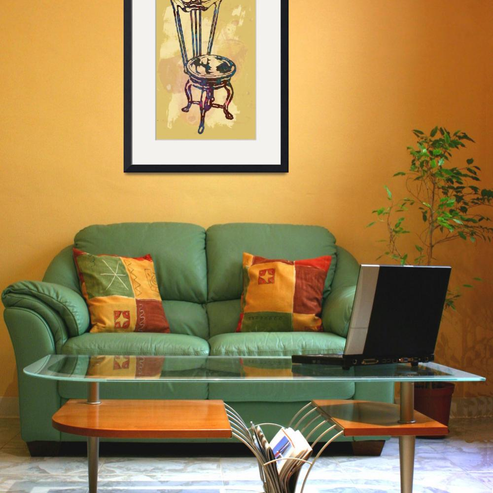 """""""Classical chair stylized pop art poster&quot  (2014) by visualharbour"""