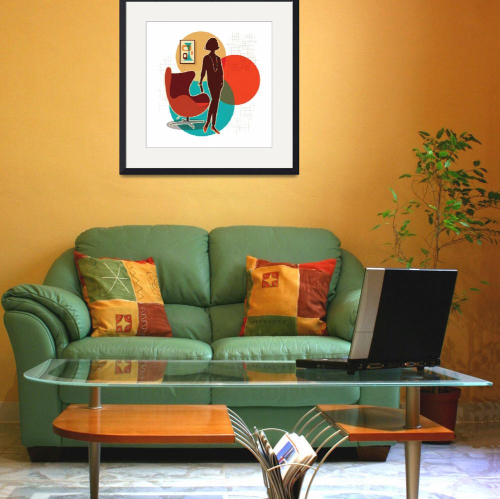 """""""Mid Century Modern Egg Chair Print&quot  (2016) by DianeDempseyDesign"""