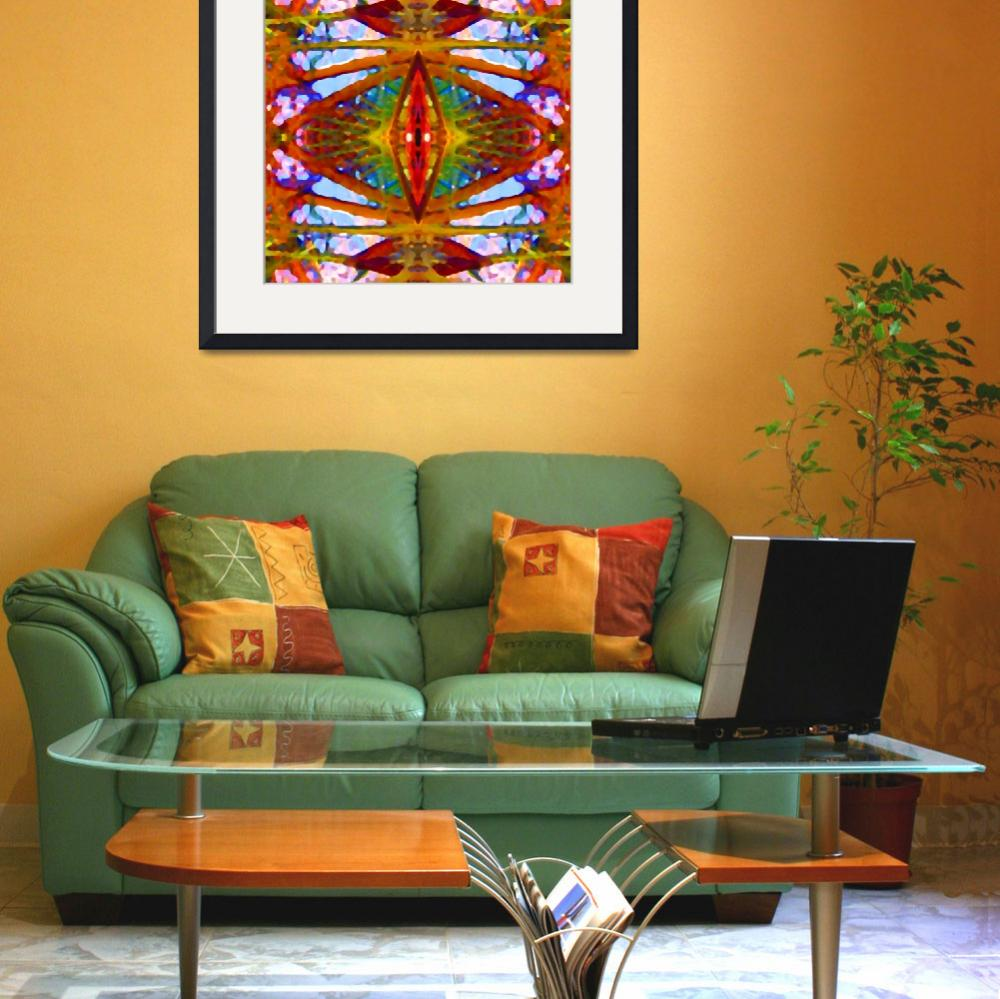 """""""Tropical Stained Glass&quot  (2009) by AmyVangsgard"""