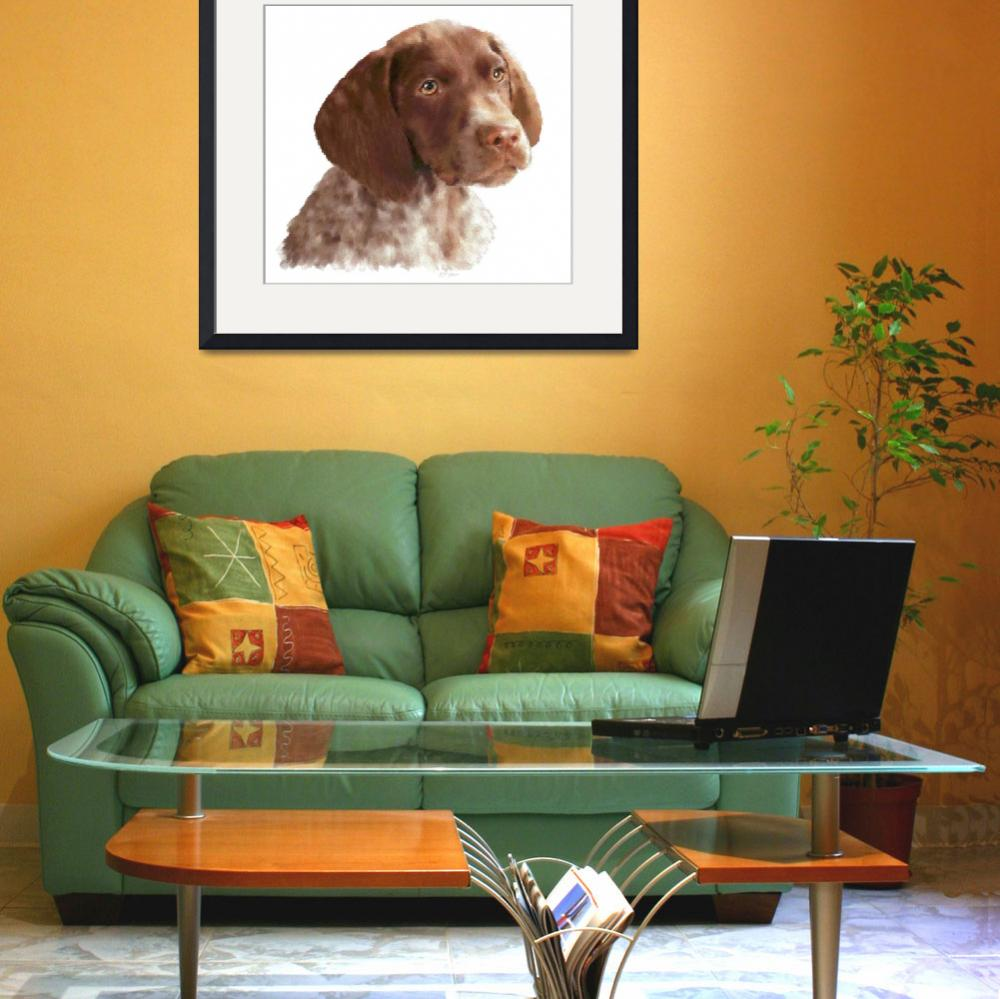 """""""German Shorthair Puppy - Pastel&quot  (2009) by aart2000"""