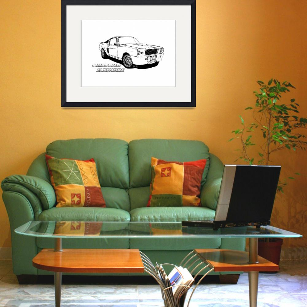 """""""Mustang Elsinore line drawing""""  (2012) by jt85"""