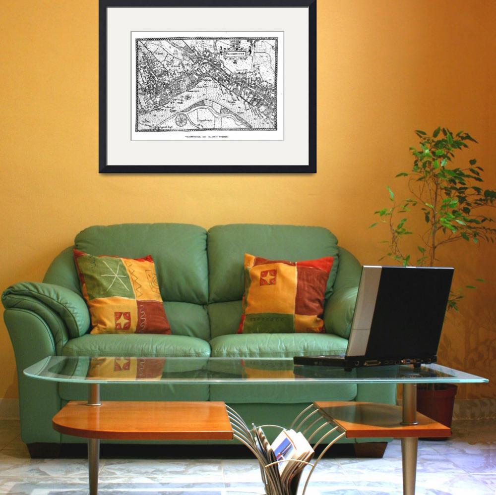 """""""Vintage Map of Westminster (1593)&quot  by Alleycatshirts"""