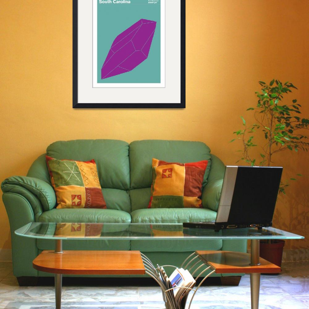 """""""State Posters - South Carolina State Gemstone: Ame&quot  by artlicensing"""
