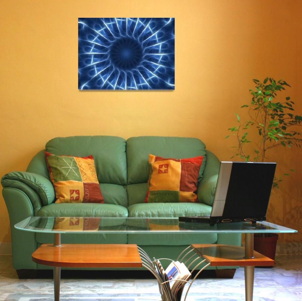"""Blue Kaleidoscope 1&quot  (2009) by ChristopherInMexico"