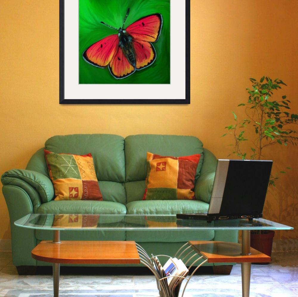"""""""Red Butterfly&quot  (2012) by ArtiKat"""