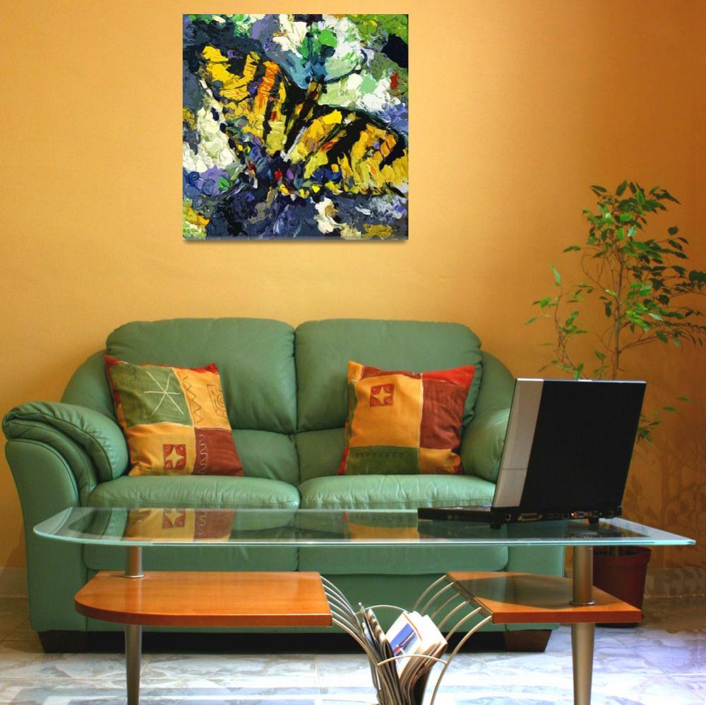 """Swallowtail Butterfly Modern Decorative Art&quot  (2012) by GinetteCallaway"