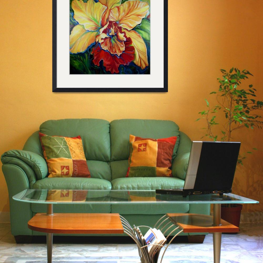 """""""TROPICAL ORCHID&quot  (2013) by MBaldwinFineArt2006"""