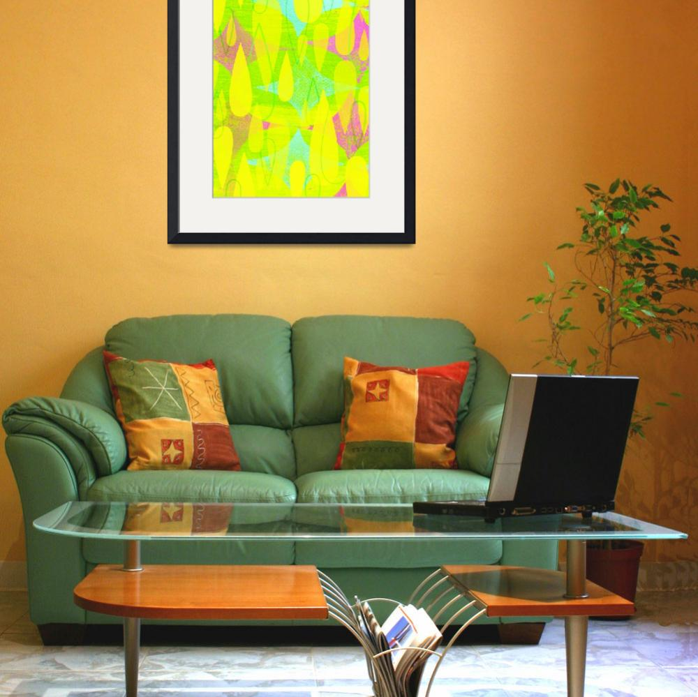 """Mid Century Modern Print - Yellow and Pink""  (2012) by jpprintparlor"
