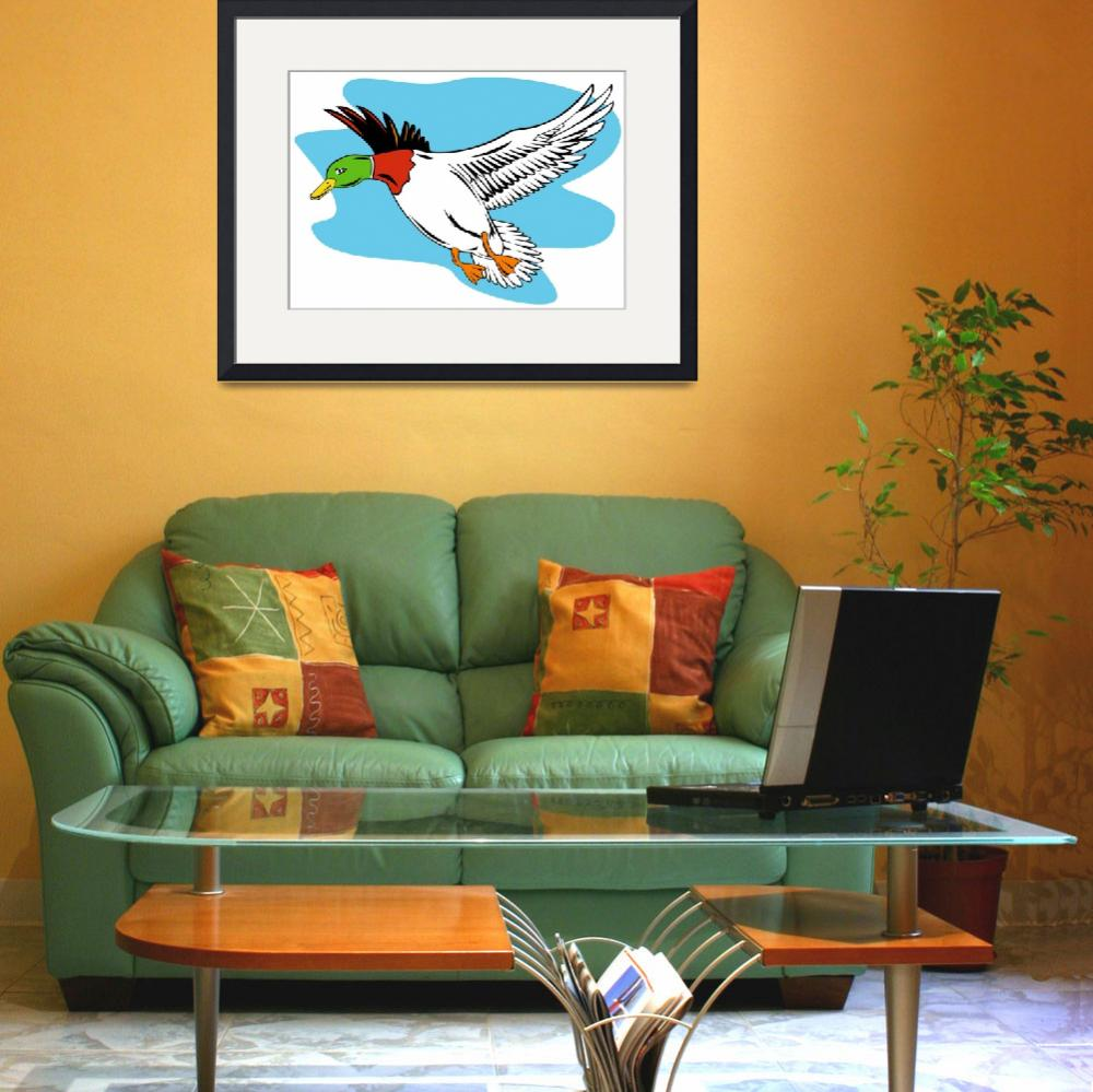"""Mallard Duck Flying&quot  (2013) by patrimonio"