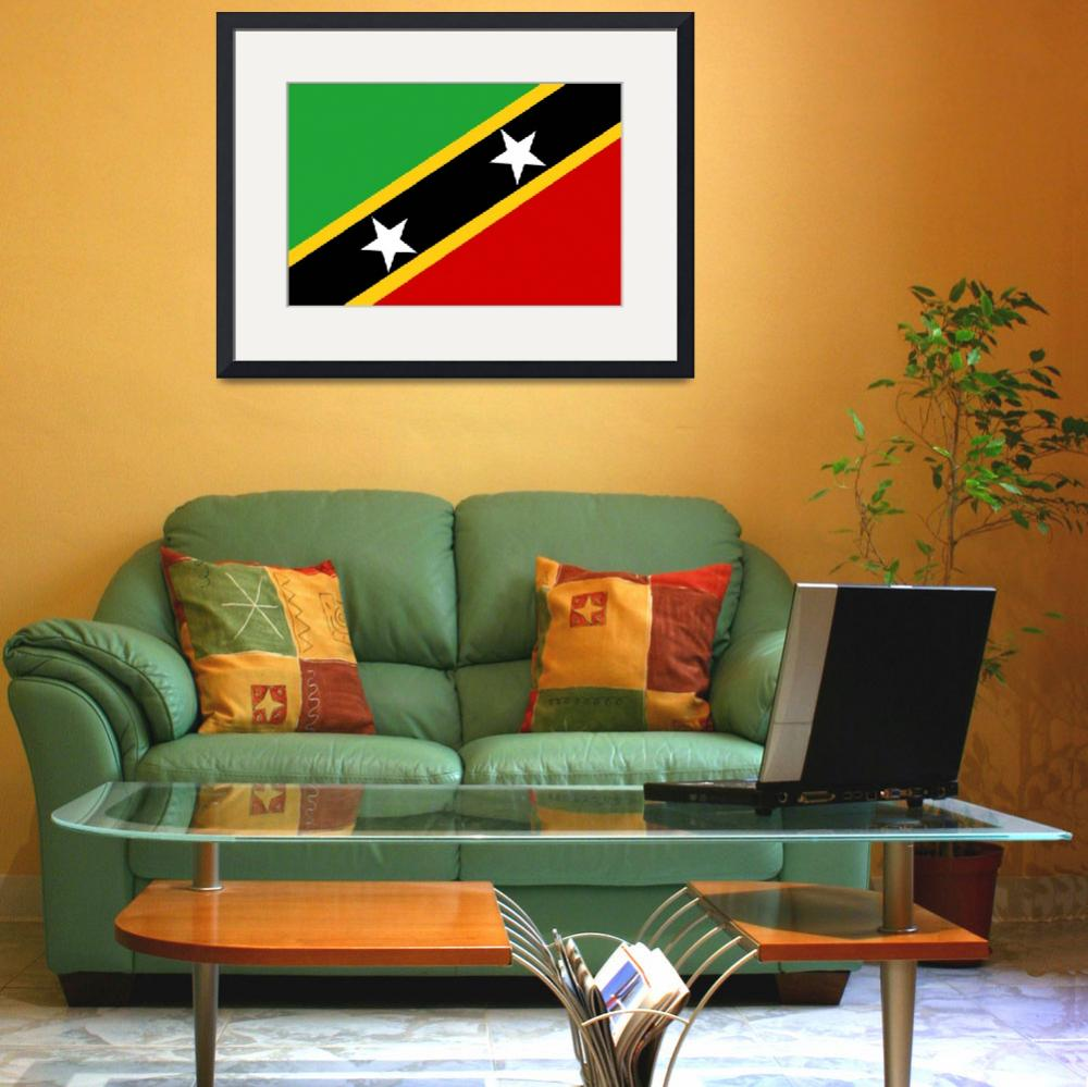 """Saint Kitts and Nevis&quot  by tony4urban"