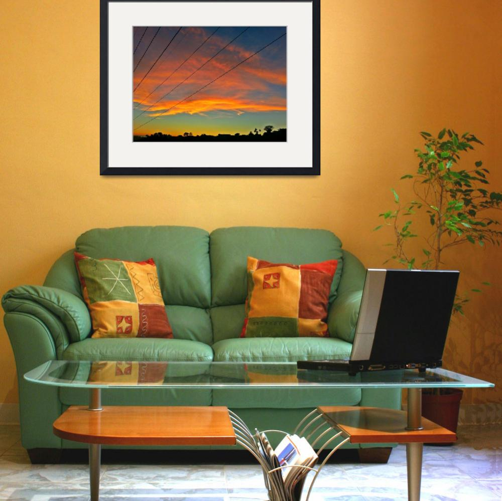 """""""Wired Sunset Hollywood Hills California""""  (2013) by JimFall"""