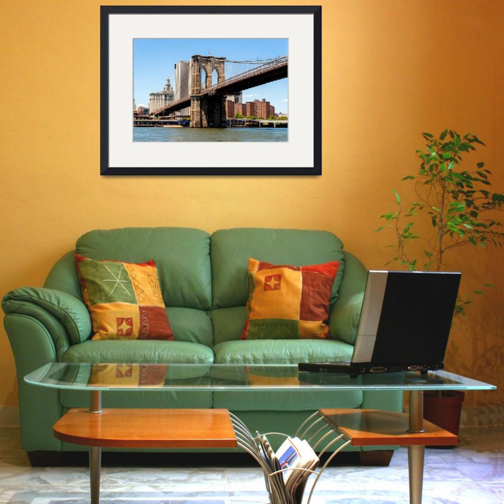 """""""Brooklyn Bridge and the East River&quot  (2013) by New-Yorkled"""
