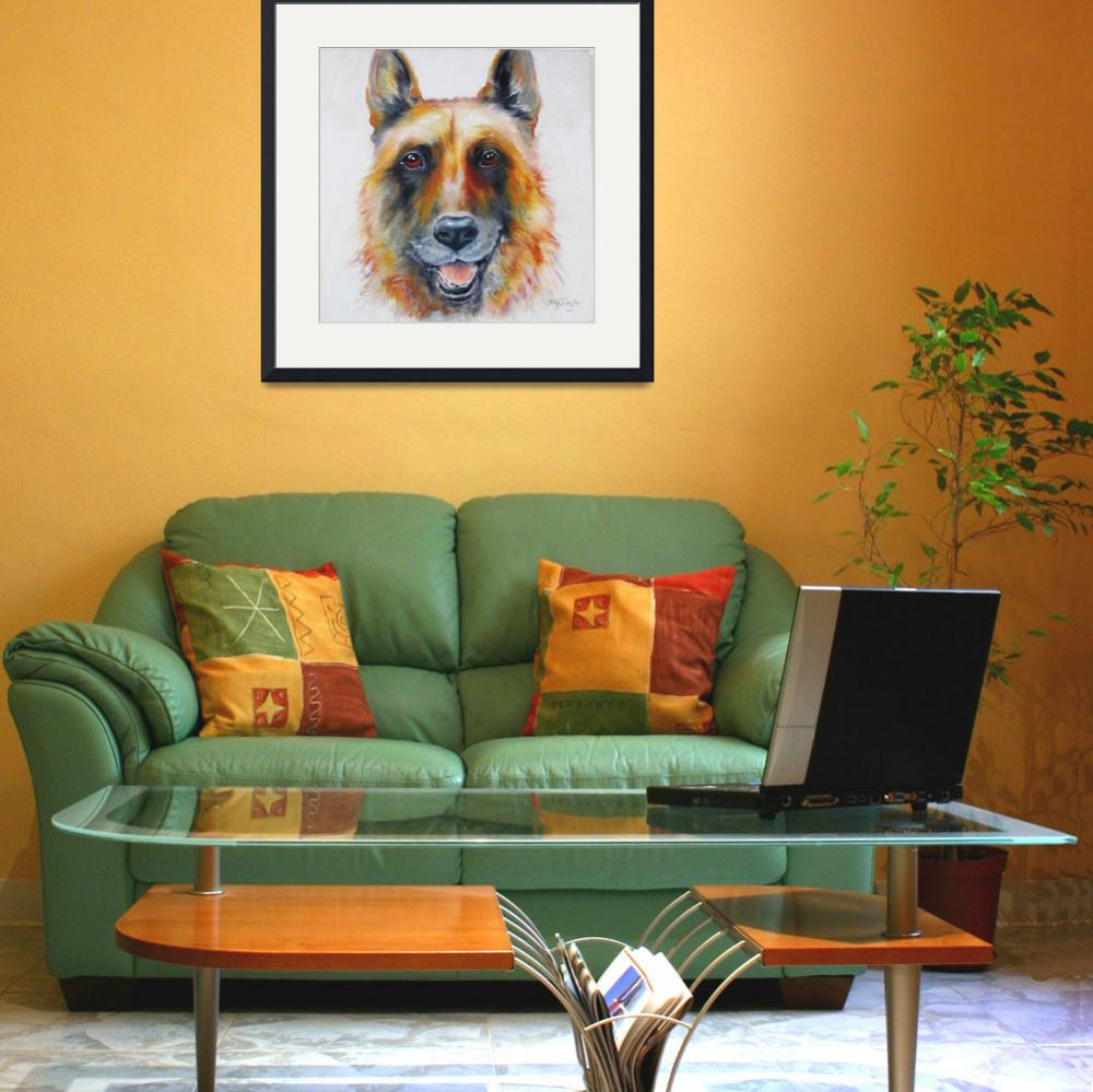 """LAW OFFICER THE GERMAN SHEPHERD&quot  (2010) by MBaldwinFineArt2006"