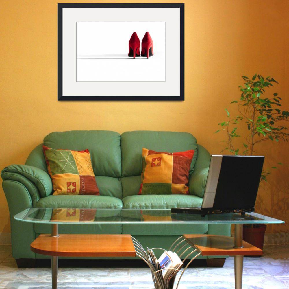 """""""Red High Heeled Shoes&quot  (2012) by NatalieKinnear"""