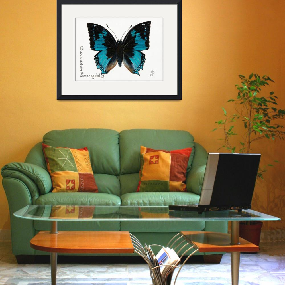 """""""Western_Blue_Charaxes""""  by grizzoo"""