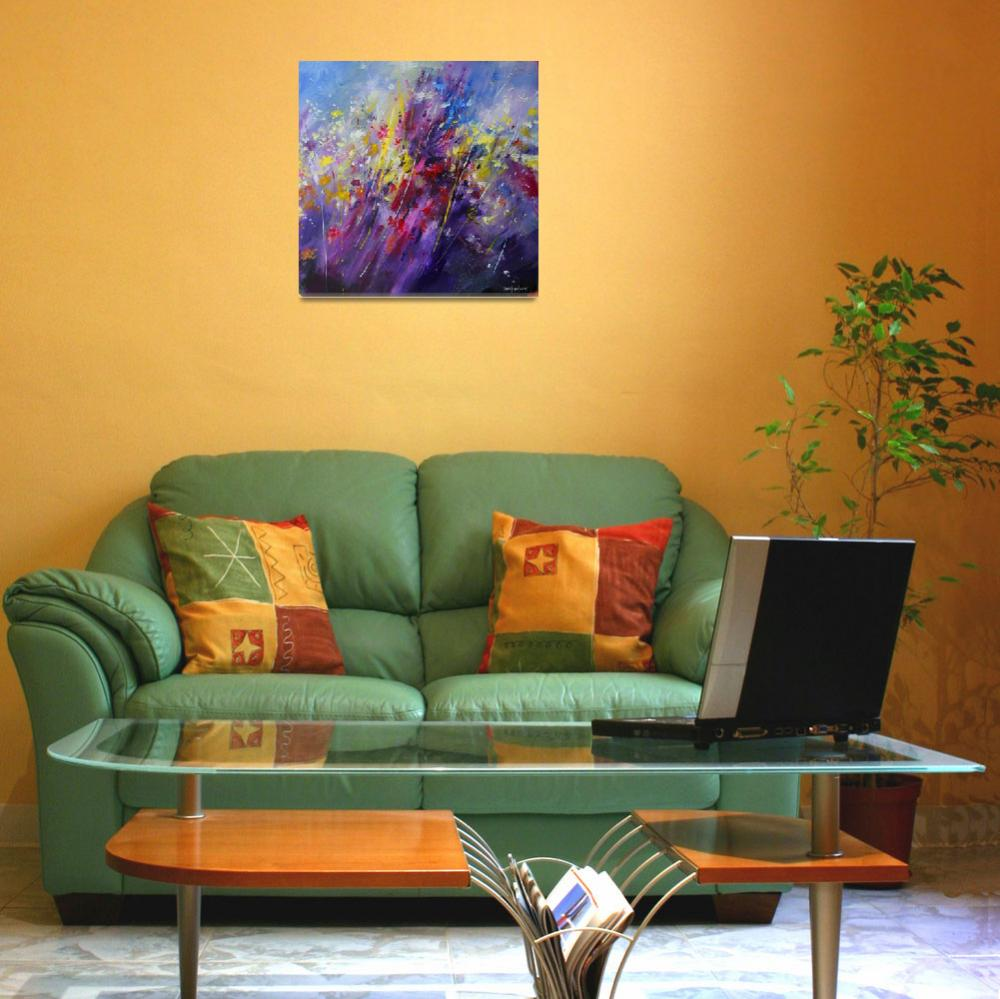 """Abstract flower painting 2011""  (2011) by zampedroni"