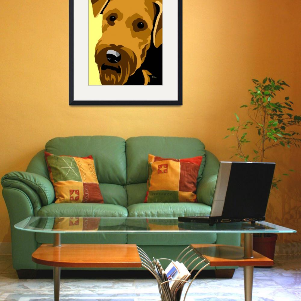 """""""Airedale Terrier&quot  (2012) by waterart"""