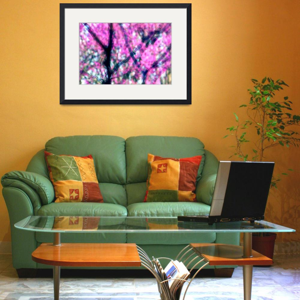 """""""Spring Redbuds Abstract&quot  (2015) by KsWorldArt"""