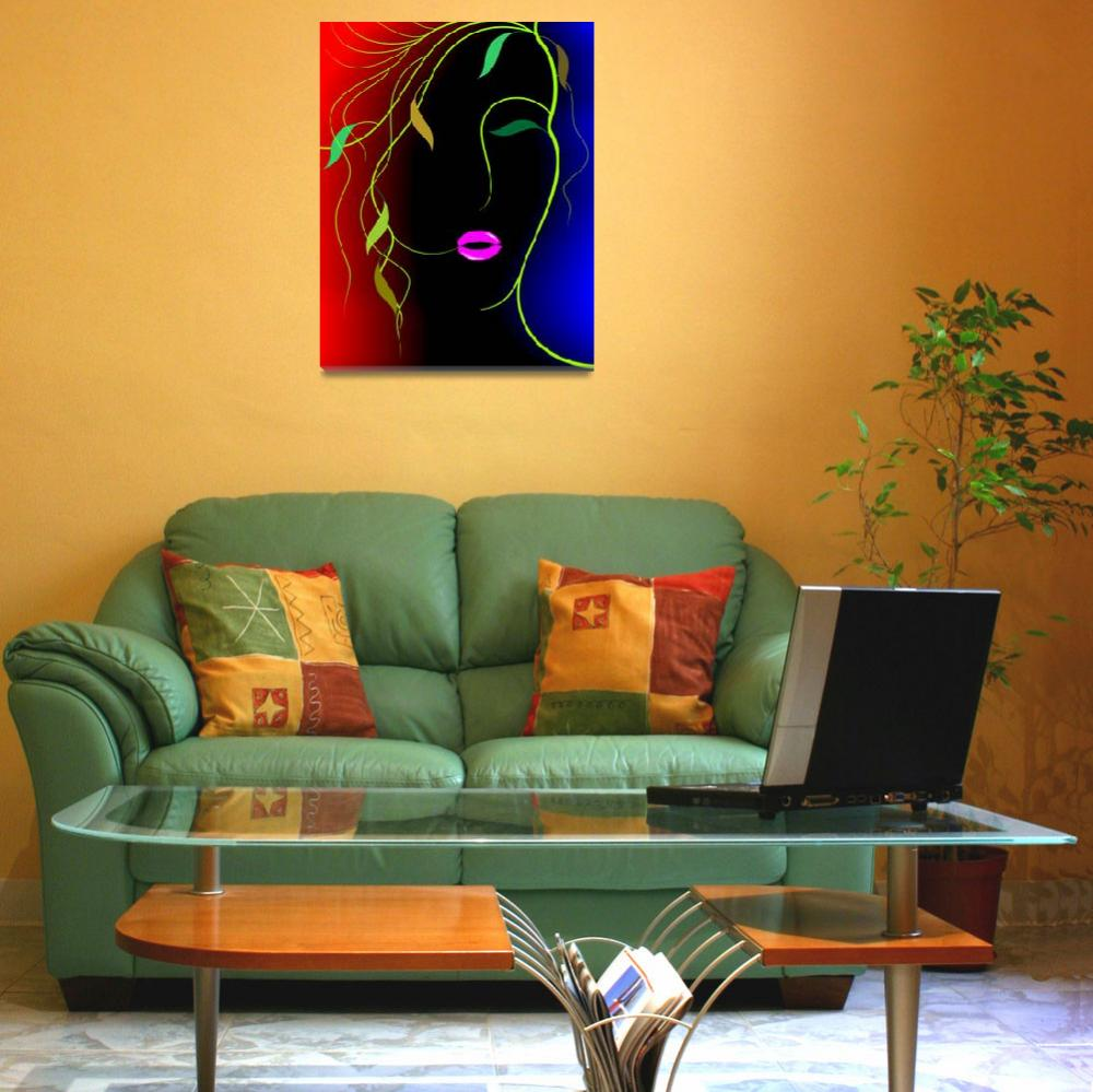 """""""Digital painting of plant abstract of women&quot  (2009) by digitalpainting"""