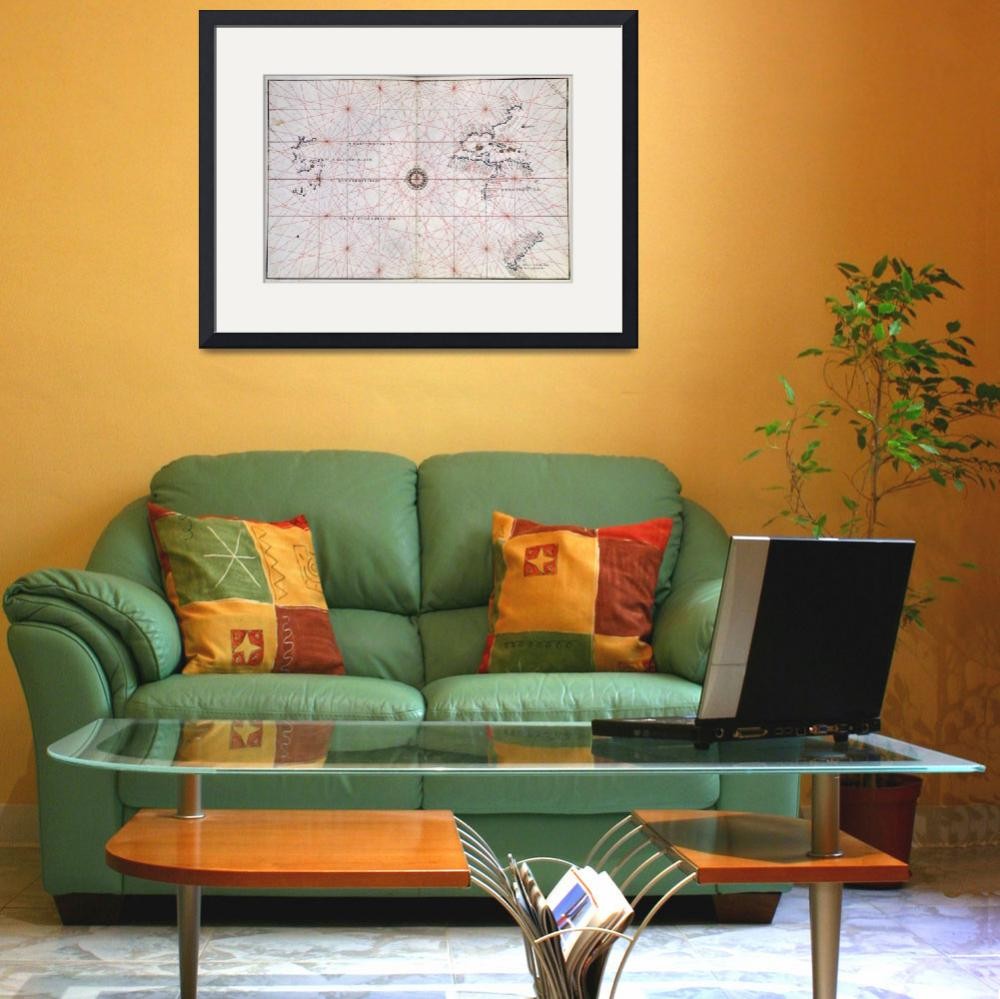 """""""Nautical Chart of the Pacific Ocean and Central Am&quot  by fineartmasters"""
