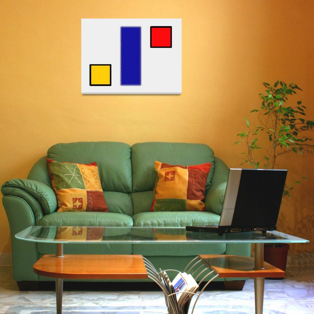 """""""ABSTRACT COMPOSITION 05 Piet Mondrian Style""""  by motionage"""