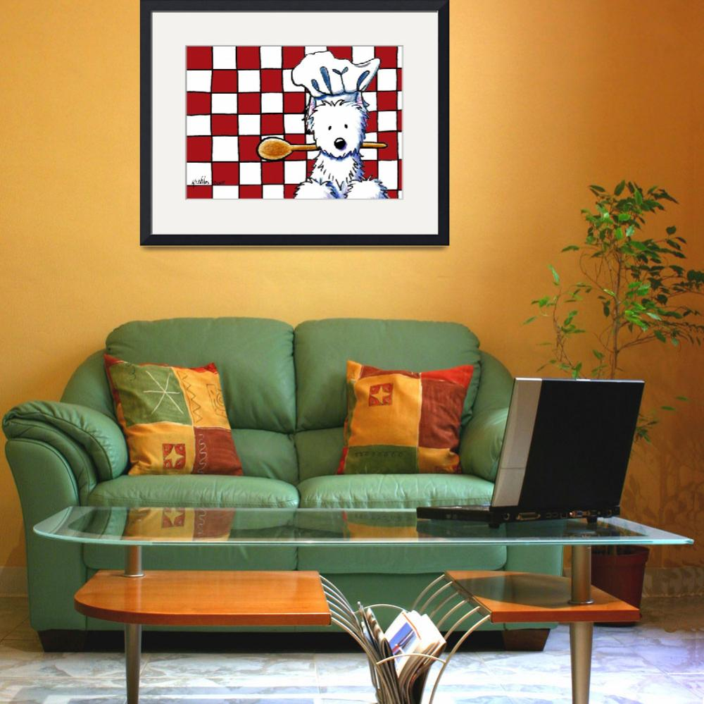 """Westie Chef&quot  (2008) by KiniArt"