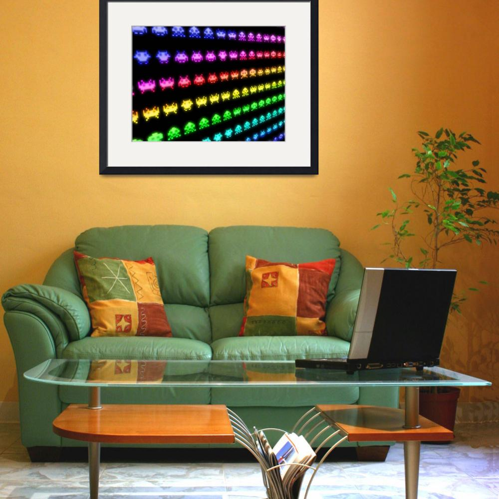 """""""Space Invaders&quot  (2010) by ModernArtPrints"""