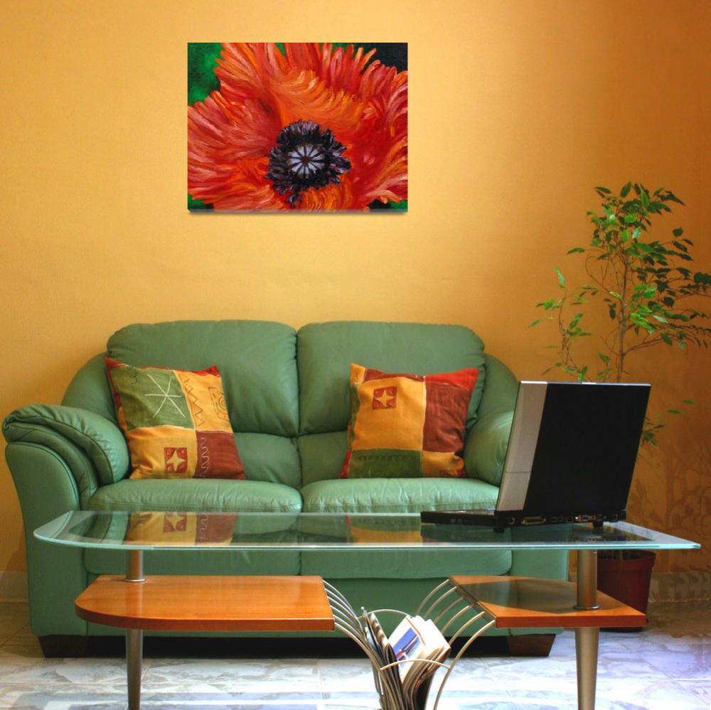 """""""Red Turkenlouis Oriental Poppy""""  (2005) by evansonart"""