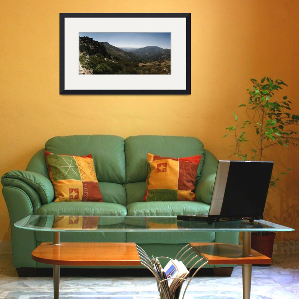 """""""High angle view of mountains&quot  by Panoramic_Images"""