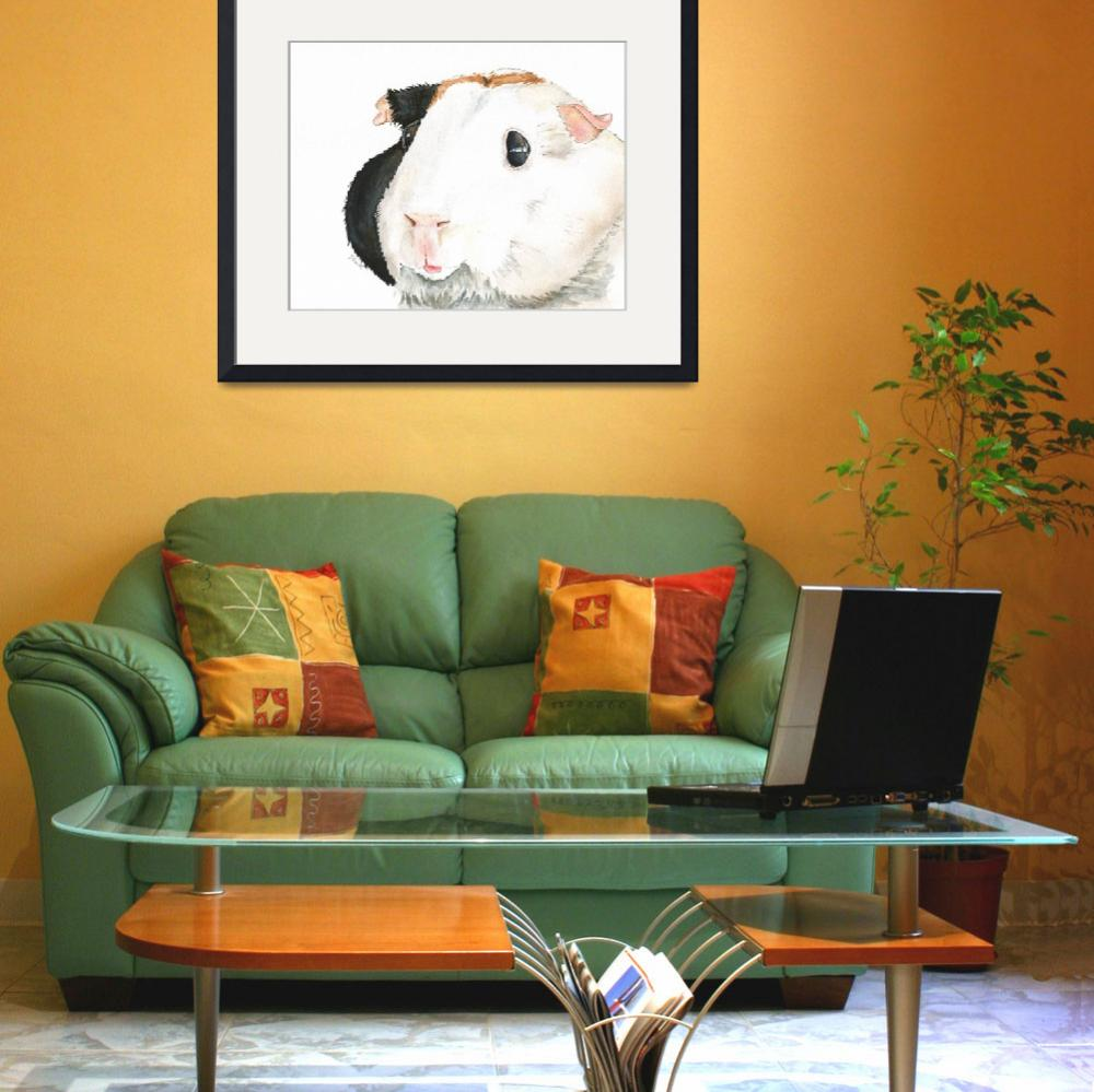 """Izzy the Rowdy Remodeler Guinea Pig&quot  (2014) by Designomel"