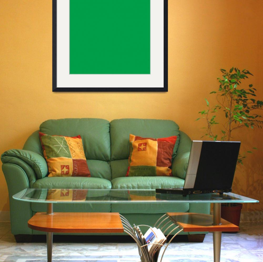 """""""Square PMS-355 HEX-009E49 Green&quot  (2010) by Ricardos"""