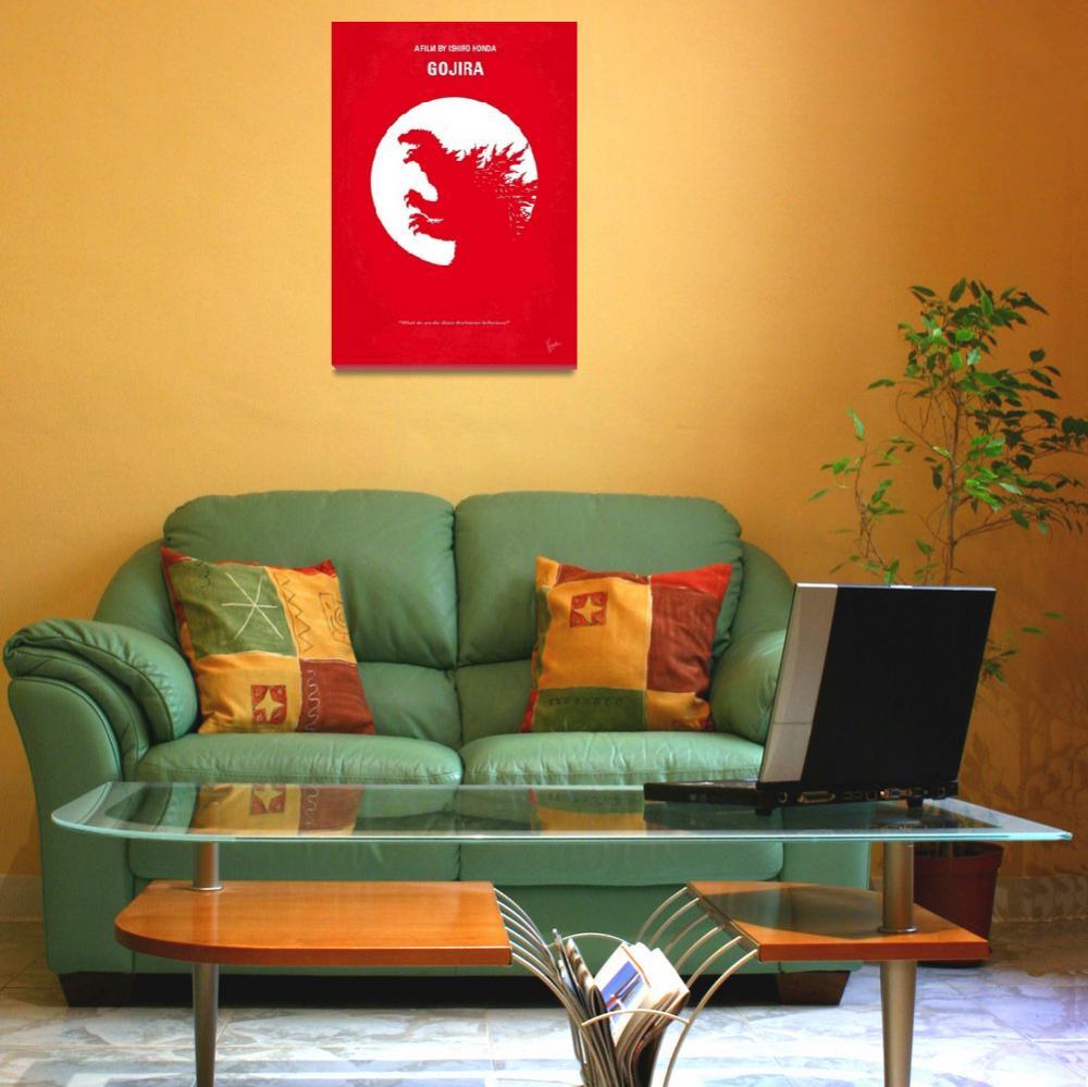 """""""No029-1 My Godzilla 1954 minimal movie poster&quot  by Chungkong"""