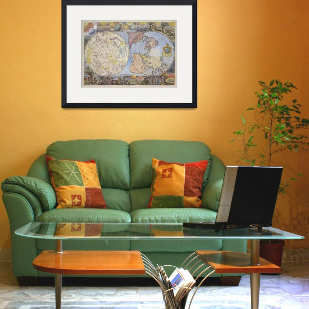 """""""Vintage Astrological World Map (1699)""""  by Alleycatshirts"""