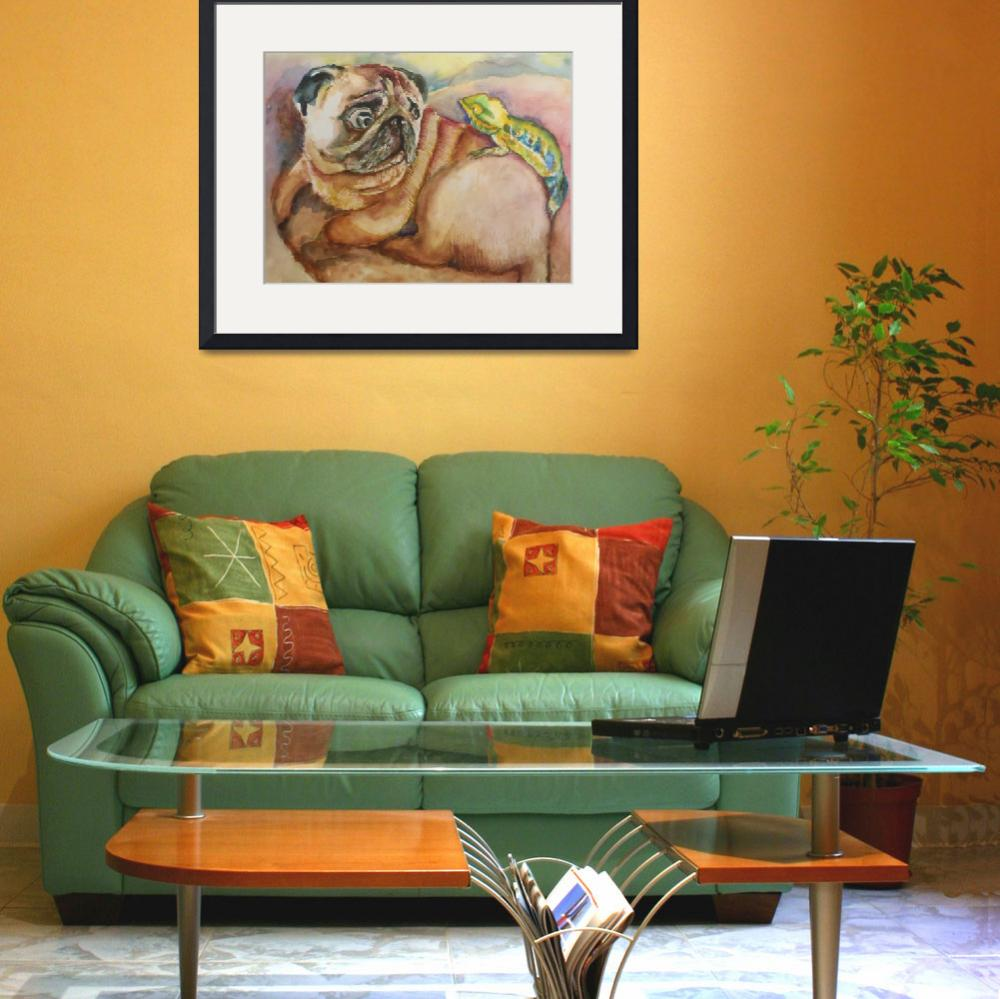 """When Pug Met Chameleon&quot  (2013) by EmmaKaufmann"