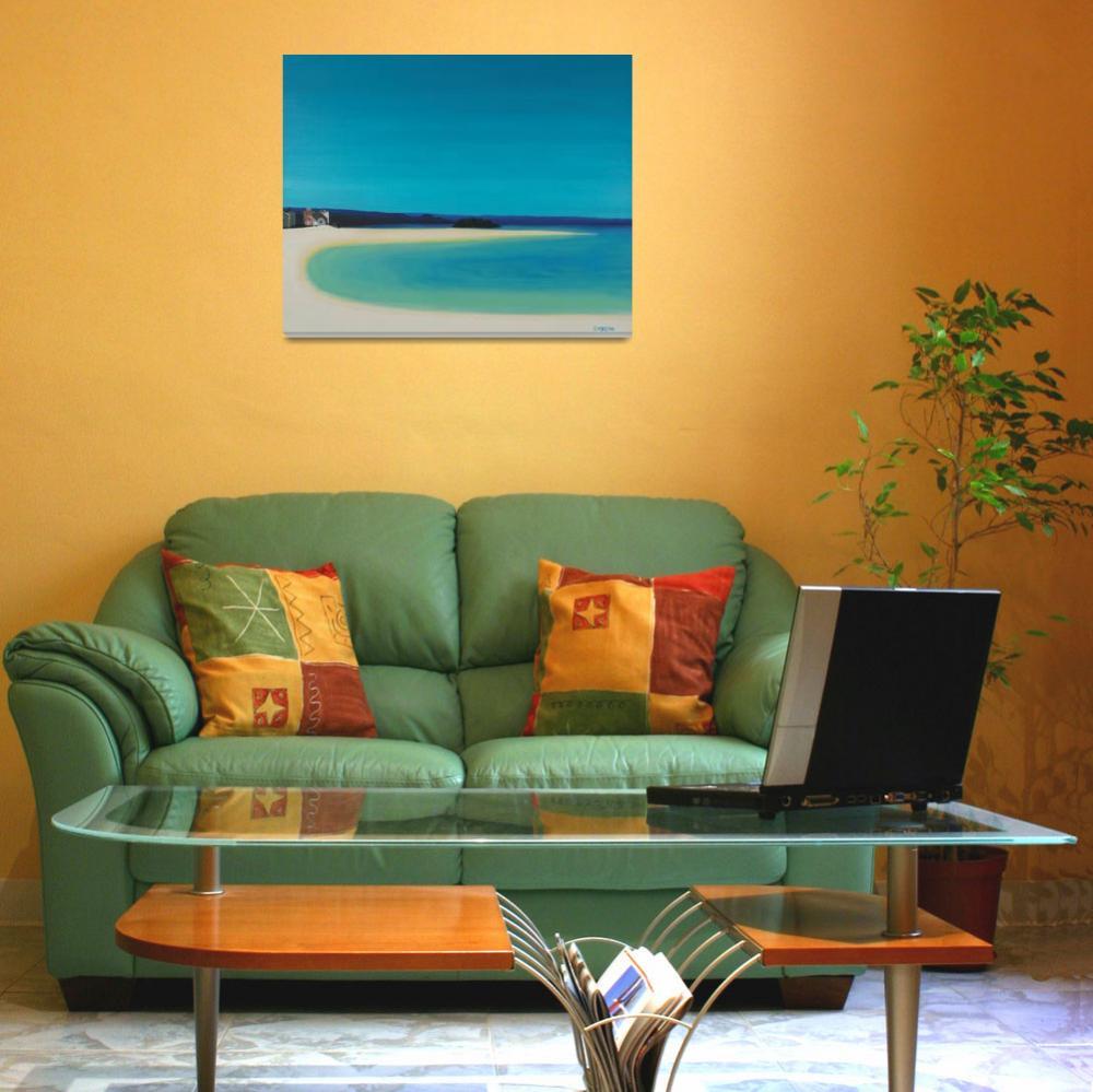 """""""Marizion Beach.""""  (2010) by si"""