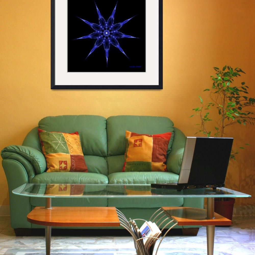 """""""Flame Star Blue&quot  by lucesalegres"""