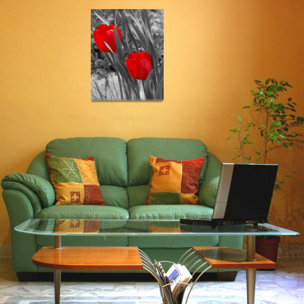 """""""Tulips duo painted""""  (2008) by LHPhotography"""