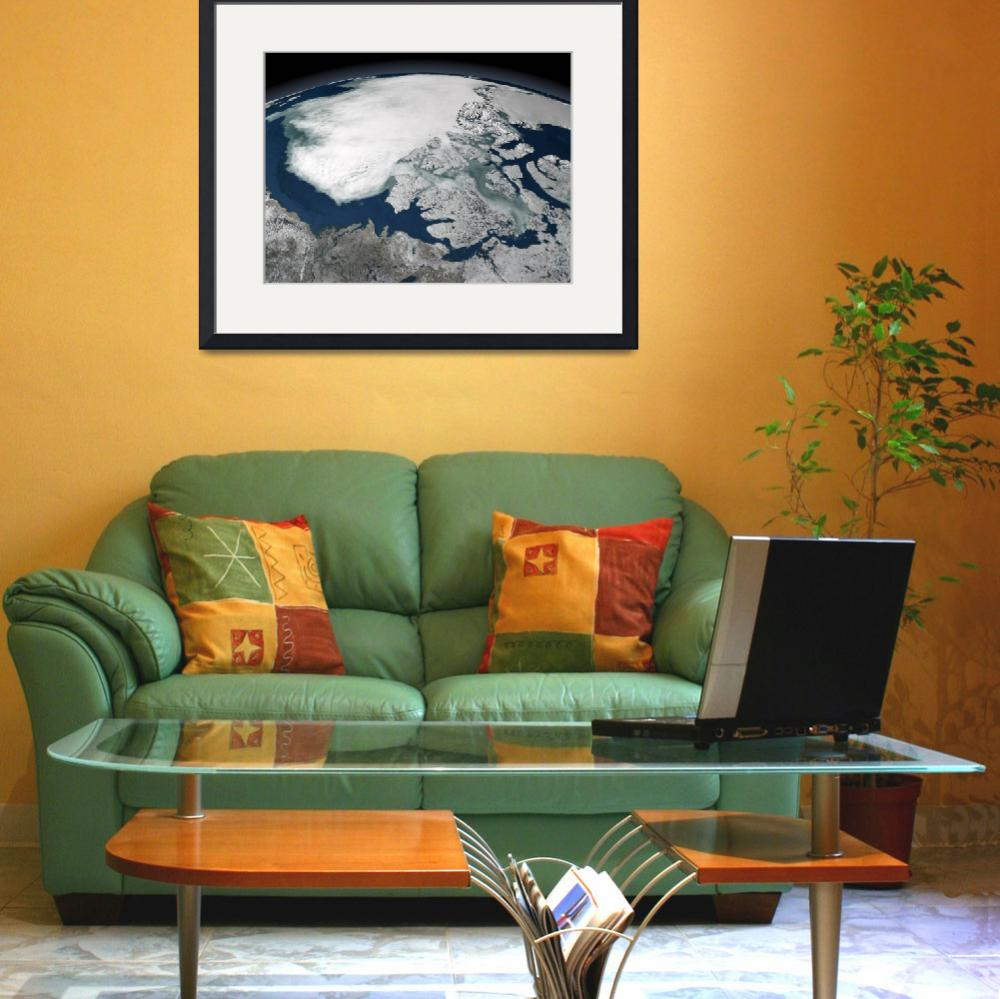 """""""Arctic sea ice above North America&quot  by stocktrekimages"""