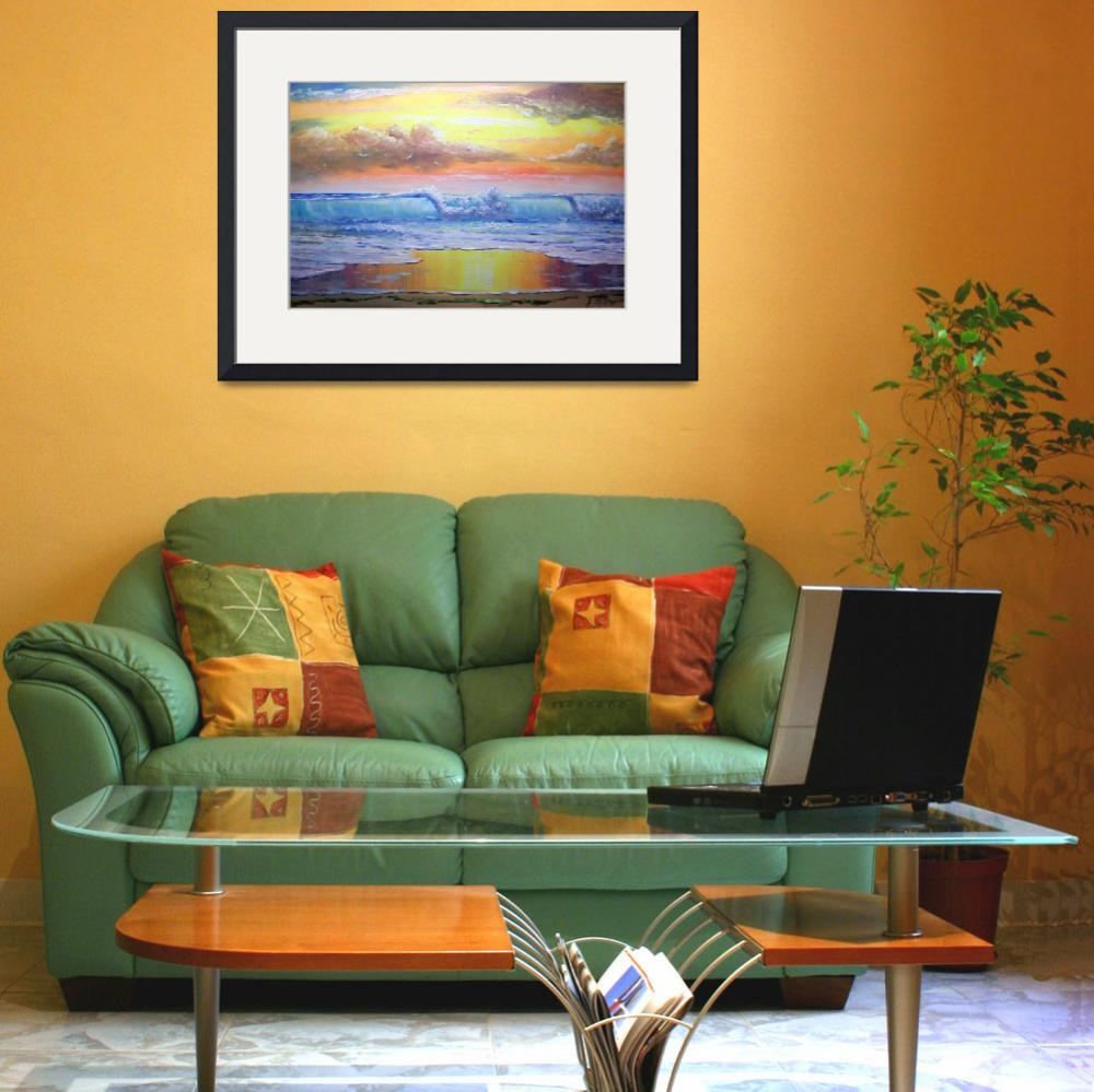 """""""Tropical Sunny Seascape""""  (2008) by mazz"""