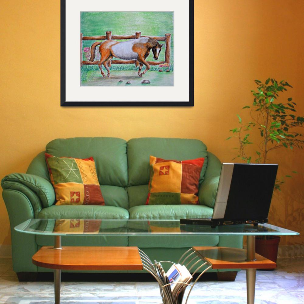 """""""Brown and white horse&quot  (2012) by thuraya"""