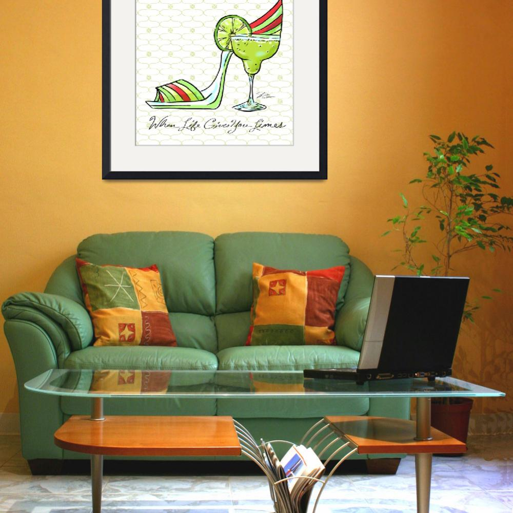 """""""Cocktail Shoes Margarita&quot  (2011) by shariwarren"""