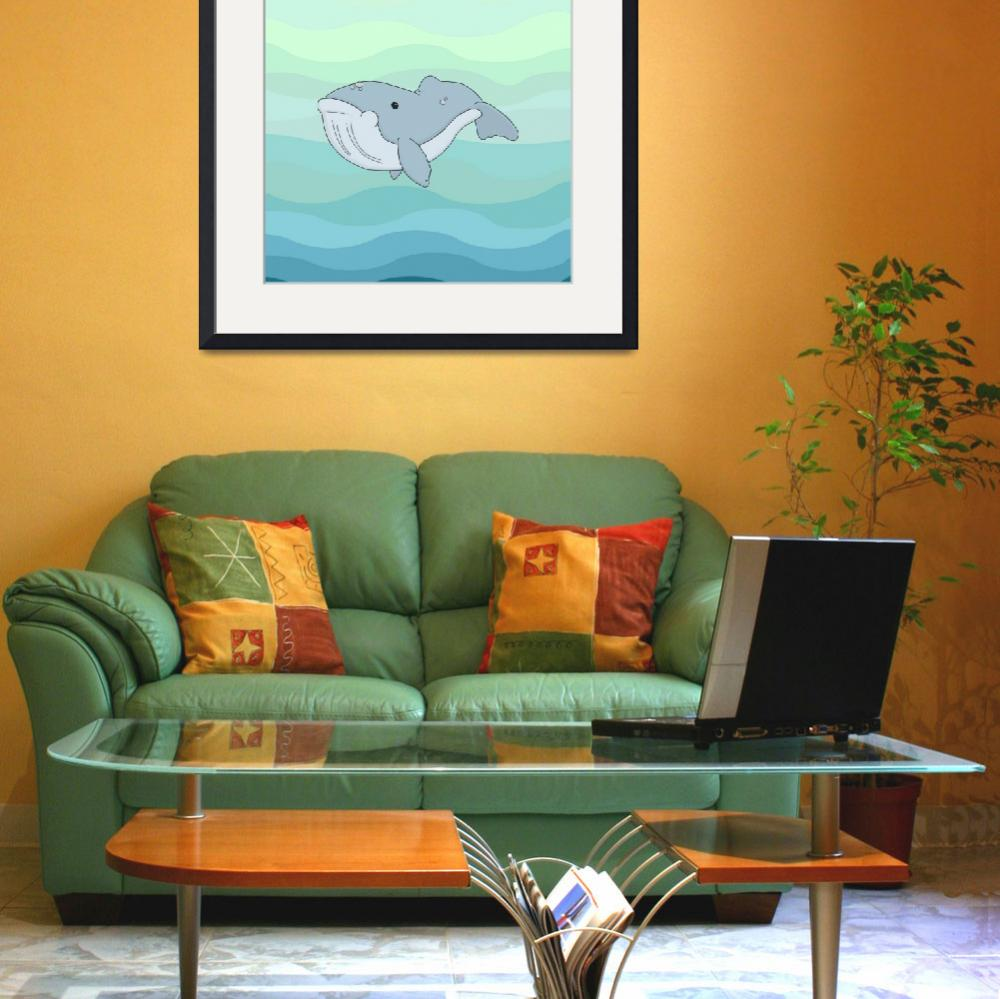 """""""Baby Whale&quot  (2013) by InkFish"""